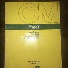 John Deere Combine Operator's Cab And Accessories Manual Oem