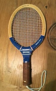 Vintage  Spalding Match Play Wood Racquetball Racquet