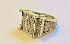 STERLING SILVER MASSIVE BLING RING BY ICEJEWLZ  STATEMENT RING SIZE R