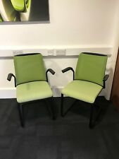2 Steelcase Green Visitor / Guest Chairs. Office / Meeting Room