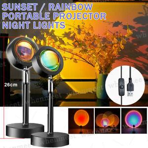 Projector Night Lights Bedside Table Lamps Bedroom LED Atmosphere Light US