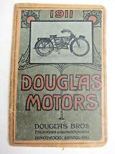 Douglas 1911 original Motorcycle sales catalog in great condition
