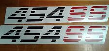 454 SS ford stickers decal Black Matt Chevy Truck Silverado 1500 (SET)