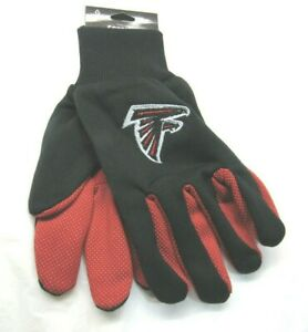NFL Atlanta Falcons Colored Palm Utility Gloves Black w/ Red Palm by FOCO