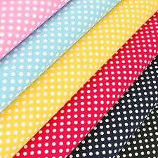Cotton Fabric FQ 6mm Classic Polka Dot Spot Vintage Retro Print Dress Craft VS26