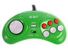 SEGA Genesis Mega Drive gamepad controller - NEW 3rd party OEM, color GREEN 6btn