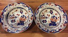 Two Stunning C1840 Tonquin China Stoneware Soup Bowls