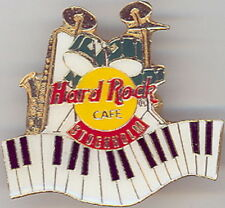 Hard Rock Cafe STOCKHOLM 1990s Drum Kit Sax Piano Keys PIN Grid Bk 3LC HRC #9173