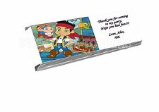 JAKE AND THE NEVERLAND PIRATES CHOCOLATE WRAPPERS X16