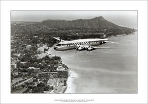 "Northwest Airlines Douglas DC-6B A1 Print – Honolulu Poster 84 x 59 cm 33"" x 23"""