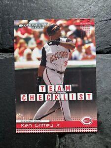 2003 Donruss Team Checklist Cincinnati Red Ken Griffey Jr #388