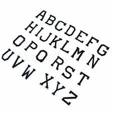 Letter A-Z Embroidered Iron On Patches for Clothing Bags Hats Dress Craft DIY
