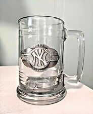 New York Yankees Glass Beer Mug Tankard Stein 2000 World Series Bronx MLB