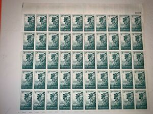 US Stamps SC# 1068 New Hampshire 3c sheet of 50 MNH 1955