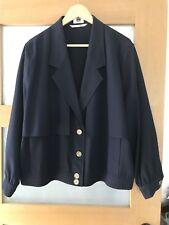 Navy Vintage Skirt Suit by Luxury Brand Ara, Jkt Size 44, 18 UK, Skirt UK 16