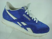 Reebok Classic Nylon Men's Running/Casual Shoes Size 7.5 US Blue/White Leather