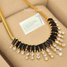 Rose Yellow Gold Plated Choker Snake Necklace w Swarovski Crystals Wife Mum Gift