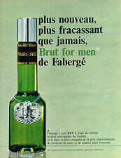 PUBLICITE ADVERTISING 055  1968  FABERGE   BRUT  eau de toilette homme