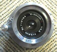 Nippon Kogaku Nikon W-Nikkor C 2.8cm 28mm f/3.5 Leica L39 LTM Lens, 100% Mint