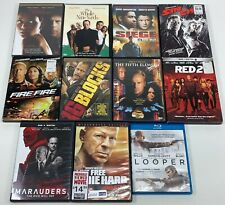 [Tested] Lot of 11 Bruce Willis Action Dvd Movies Sin City Die Hard Red 2 Looper