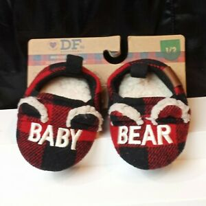 Infant Baby Bear DearFoams Limited Edition Slippers House Shoes Easy On New NWT