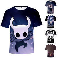 Hollow Knight T Shirt Short Sleeve 3D Print Men Tee Polyester Casual Print