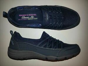 Skechers Air Cooled Damen Slipper Sportschuhe Farbe navy Größe 41 NEU