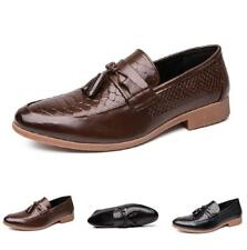 Men Pointy Toe Tassels Slip on 38-47 Low Top British Leisure Leather Shoes Party
