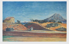 Paul Cezanne Bahndurchstrich Kunstdruck Poster Bild seltener Lichtdruck 94x62cm
