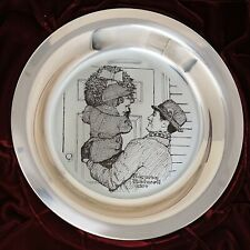 1974 Sterling Silver Norman Rockwell Hanging the Wreath Franklin Mint