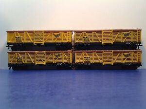"HO Scale ""MKT  - The Katy"" 40' MKT 4702 Cattle Train / Life-Like / Lot Of 4"