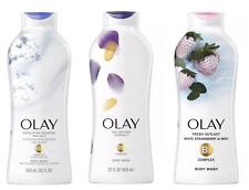 3x Olay Daily Exfoliating w/Sea Salts Age Defying Fresh Outlast Body Wash 22 oz