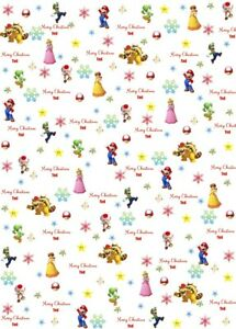 Personalised Super Mario Christmas Wrapping Paper