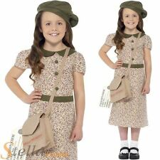 Smiffys Complete Outfit World War II Fancy Dresses for Girls
