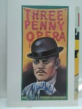 Rare THREEPENNY OPERA print autographed by Raul Julia