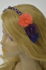 Bebe headband flower orange blue 159839