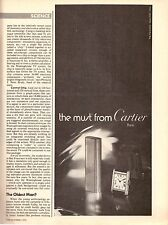 1974 The Must from Cartier Watch Lighter Print Advertisement Ad Vintage VTG 70s