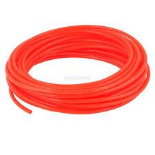 H● 6x4mm 15M 49Ft Fleaxible PU Tube Pneumatic Polyurethane Hose Long Orange.