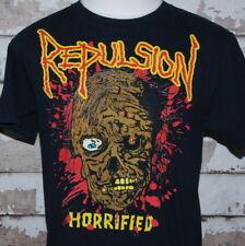 Vtg REPULSION HORRIFIED T Shirt The Whole Nine Yards sz Large Grindcore 1989