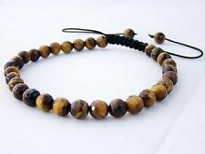 Men's Shamballa bracelet all 6mm TIGER EYE STONE beads