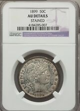 1899 BARBER HALF DOLLAR 50C - NGC AU DETAILS Stained