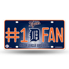 Detroit Tigers #1 Fan Metal Embossed License Plate Officially Licensed