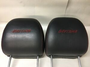 06-10 Dodge Charger Daytona Headrests Pair OEM Hemi RT