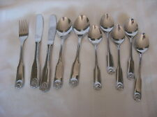 Hepp Stainless HPX3 / HPX 3 Fiddle & Shell - Teaspoons, Knives, Soups, Fork 10P