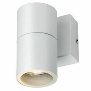 Modern LED Stainless Steel Single Wall Light Outdoor Down Garden Light GU10 240V