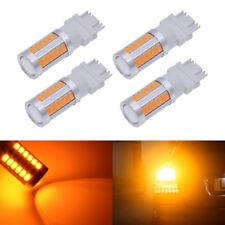 4pcs T25 3157 Led Bulbs Brake Stop Lights DRL Auto Led Lamp Amber Orange