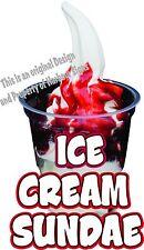 Ice Cream Sundae Decal 14 Concession Truck Cart Food Truck Vinyl Menu Sticker
