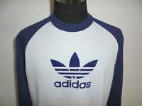 vintage hong kong 80s Adidas sweatshirt pullover 80er oldschool pulli D8 (L)