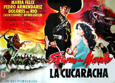 Dolores del Rio Maria Felix STURM ÜBER MEXIKO EA-Filmplakat A0 gefaltet 1958