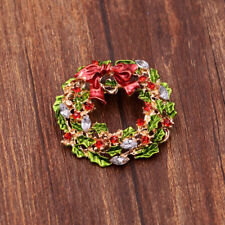 Merry Christmas Brooch Pin Jewelry Christmas Gift for Women Flower Brooch